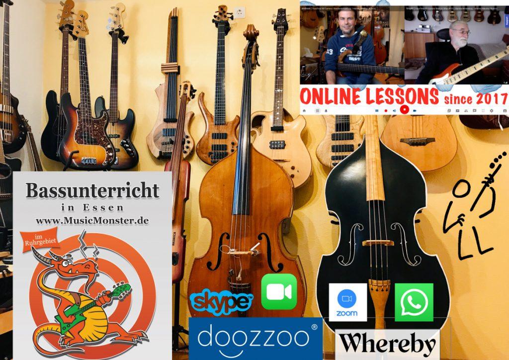 Online Bass Unterricht